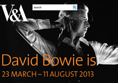 Bowie is @ V&A London